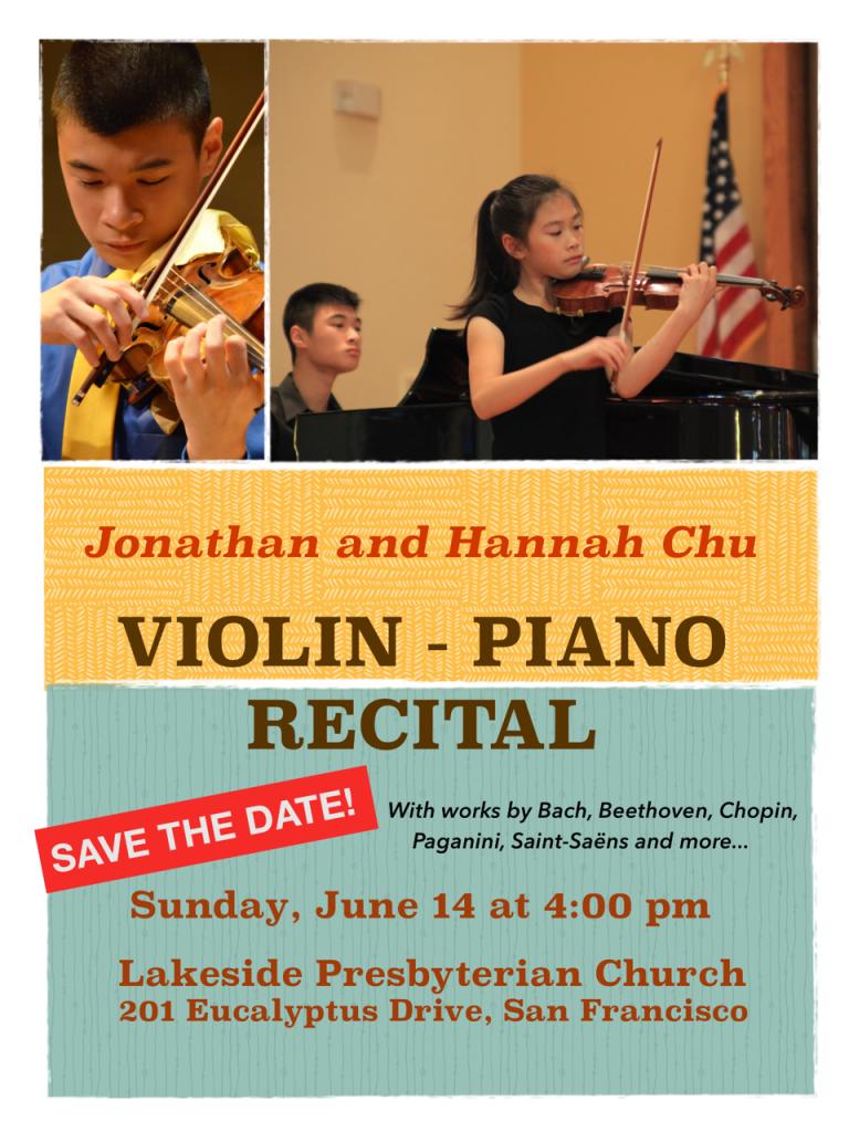 Jonathan and Hannah Chu on piano and violin - SHARP