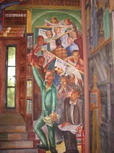 Coit Tower, library scene, Bernard Zakheim