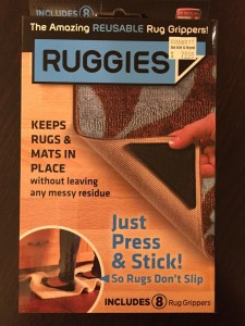 Rug grippers can be used to keep fragile items from falling and breaking.