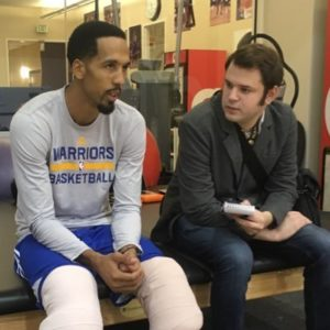 Letourneau interviews the Warriors' Shaun Livingston.