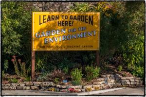 Garden for the Environment Sign